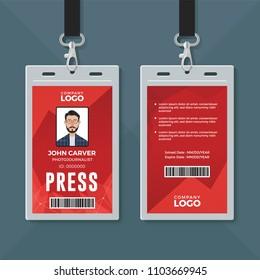 Press ID card design template
