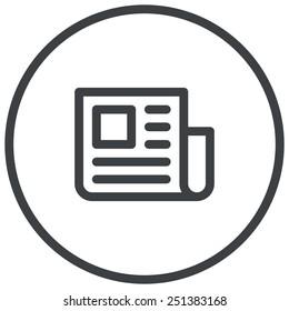 Press Release, newspaper illustration, modern vector icon