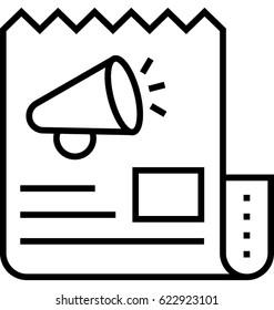 Press Release Vector Icon