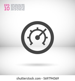Pressure isolated minimal single flat linear icon for application and info-graphic. Technology line vector icon for websites and mobile minimalistic flat design.