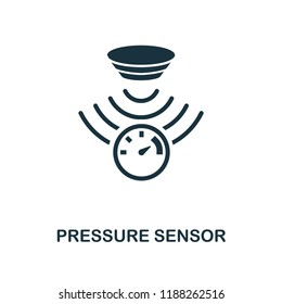 Pressure Sensor icon. Monochrome style design from sensors collection. UX and UI. Pixel perfect pressure sensor icon. For web design, apps, software, printing usage.