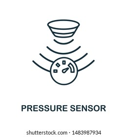 Pressure Sensor outline icon. Thin line style from sensors icons collection. Pixel perfect simple element pressure sensor icon for web design, apps, software, print usage.