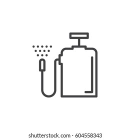 Pressure sprayer line icon, outline vector sign, linear style pictogram isolated on white. Symbol, logo illustration. Editable stroke. Pixel perfect