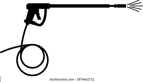 pressure washer gun icon , vector