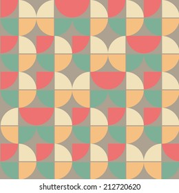 pretty abstract seamless geometrical pattern with colorful sectors and circles