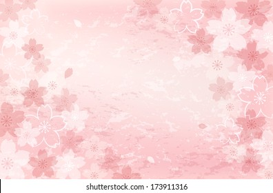 Pretty, beautiful Shabby Chick Cherry blossom background.