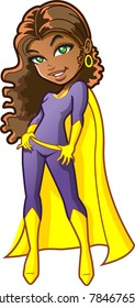 Pretty Black African American Teen Girl Superhero