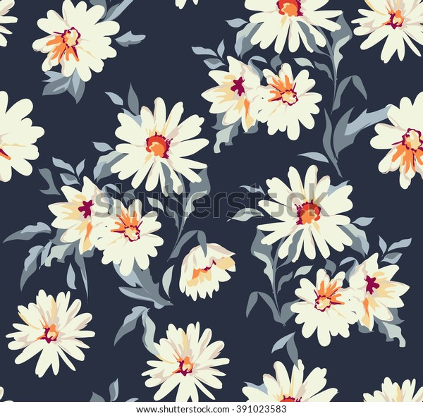 Image Vectorielle De Stock De Belle Marguerite A Imprimer Floral 391023583