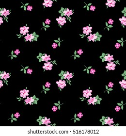 pretty ditsy flower print ~ seamless background