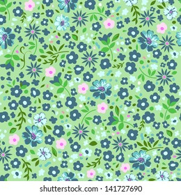 pretty ditsy green seamless background