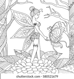 Fairies Coloring Pages Images, Stock Photos & Vectors ...