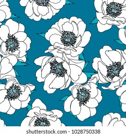 Pretty floral vector design for backgrounds, textile prints, fashion, web, wallpaper, etc. Seamless pattern.