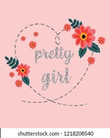 pretty girl flowers