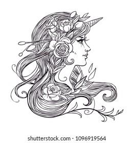 "Galería de símbolos /""be a Unicorn.../"" en a4"
