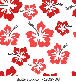 Pretty hibiscus seamless background