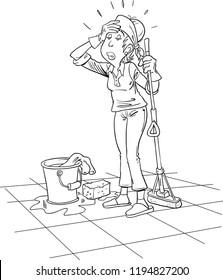 Funny Women Cleaning Stock Vectors, Images & Vector Art