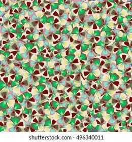 Pretty multicolored floral print. Motley seamless pattern. Vector multicolor abstract flower background.