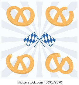Pretzels and Bavarian Flag