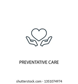 Preventive care concept line icon. Simple element illustration. Preventive care concept outline symbol design. Can be used for web and mobile UI/UX