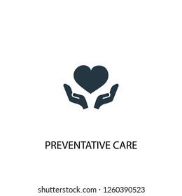 Preventive care icon. Simple element illustration. Preventive care concept symbol design. Can be used for web and mobile.