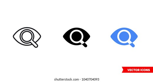 Preview icon of 3 types: color, black and white, outline. Isolated vector sign symbol.