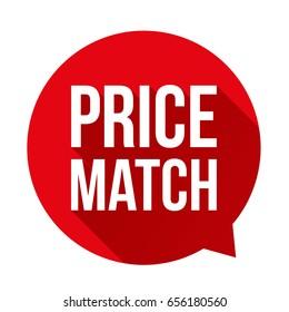 Price match button speech bubble