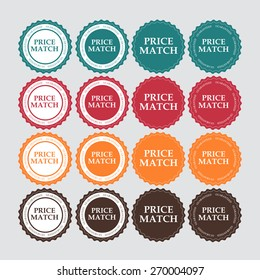 Price Match Label Vector Illustration EPS10