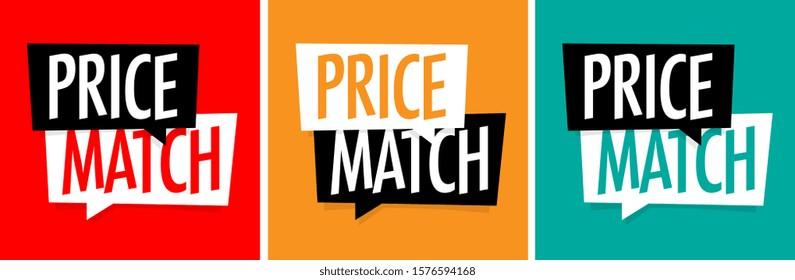 Price match on speech bubble
