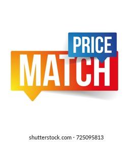 Price match speech bubble vector