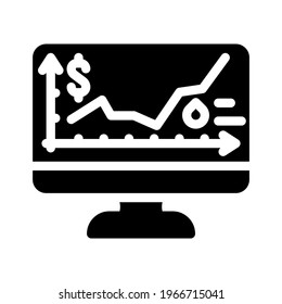 price rise wholesale glyph icon vector. price rise wholesale sign. isolated contour symbol black illustration