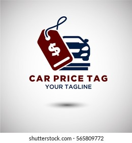 Price tag Car Logo Vector. Automotive and Transportation Logo template