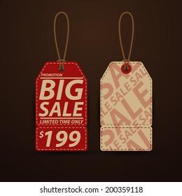 Price tag, sale