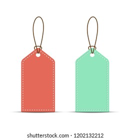 Price tag template isolated on white background, stock vector