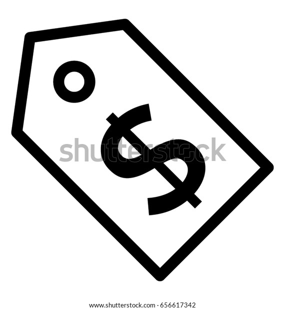 Price Tag Vector Icon Stock Vector (Royalty Free) 656617342