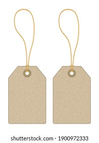 Price tags on a white background. Vector illustration.