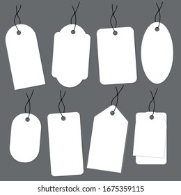 Price tags set. Blank labels template. Vector illustration