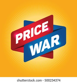 PRICE WAR arrow tag sign.