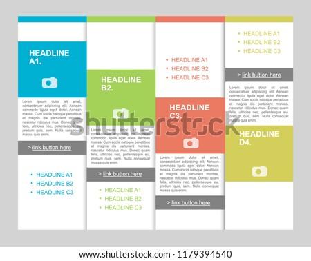 pricing table comparison template description products stock vector