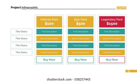 Pricing table slide
