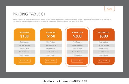 Pricing Table Template 1