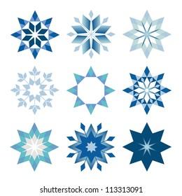 prickly snowflakes