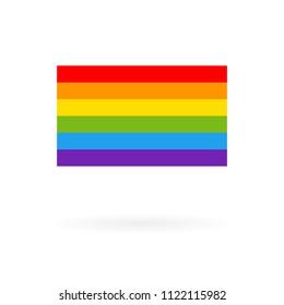 Pride flag icon. Color rainbow vector background, LGBT Lesbian gay bisexual transgender concept, Symbol