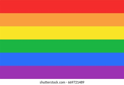 Pride Flag. Warm Colors.
