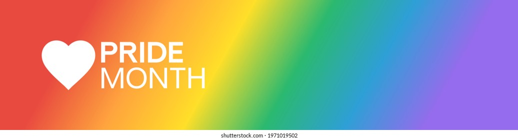 Pride Gradient Background with LGBTQ Pride Flag Colours