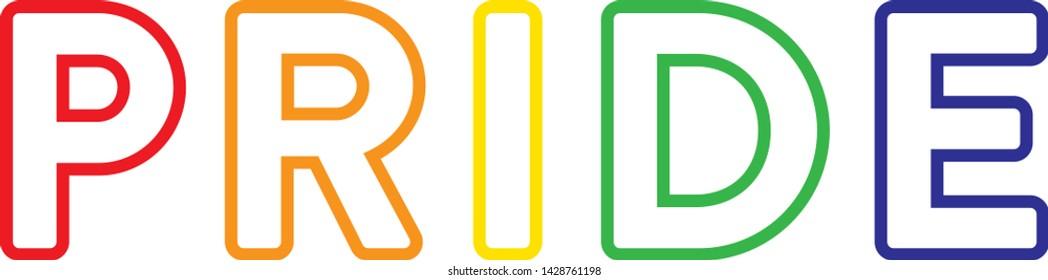 Pride Month LGBT Support Representation Vector Text Illustration Background