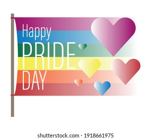 Pride moon poster vector design with line colorful rainbow text.  LGBT Pride for Lesbian Gay Bisexual and Transgender Design Element.