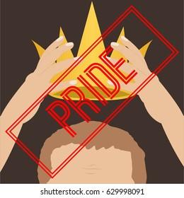 Pride. Seven deadly sins. Bible. Vector illustration