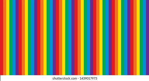 Pride stripes rainbow - symbol of gay, lesbian, bisexual, transgender and queer people