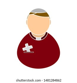 priest icon. flat illustration of priest vector icon. priest sign symbol