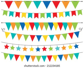 Primary Colored Bunting